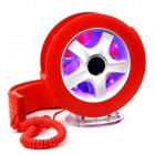 Creative Wheel Shaped Wired Table Telephone with Light-Red